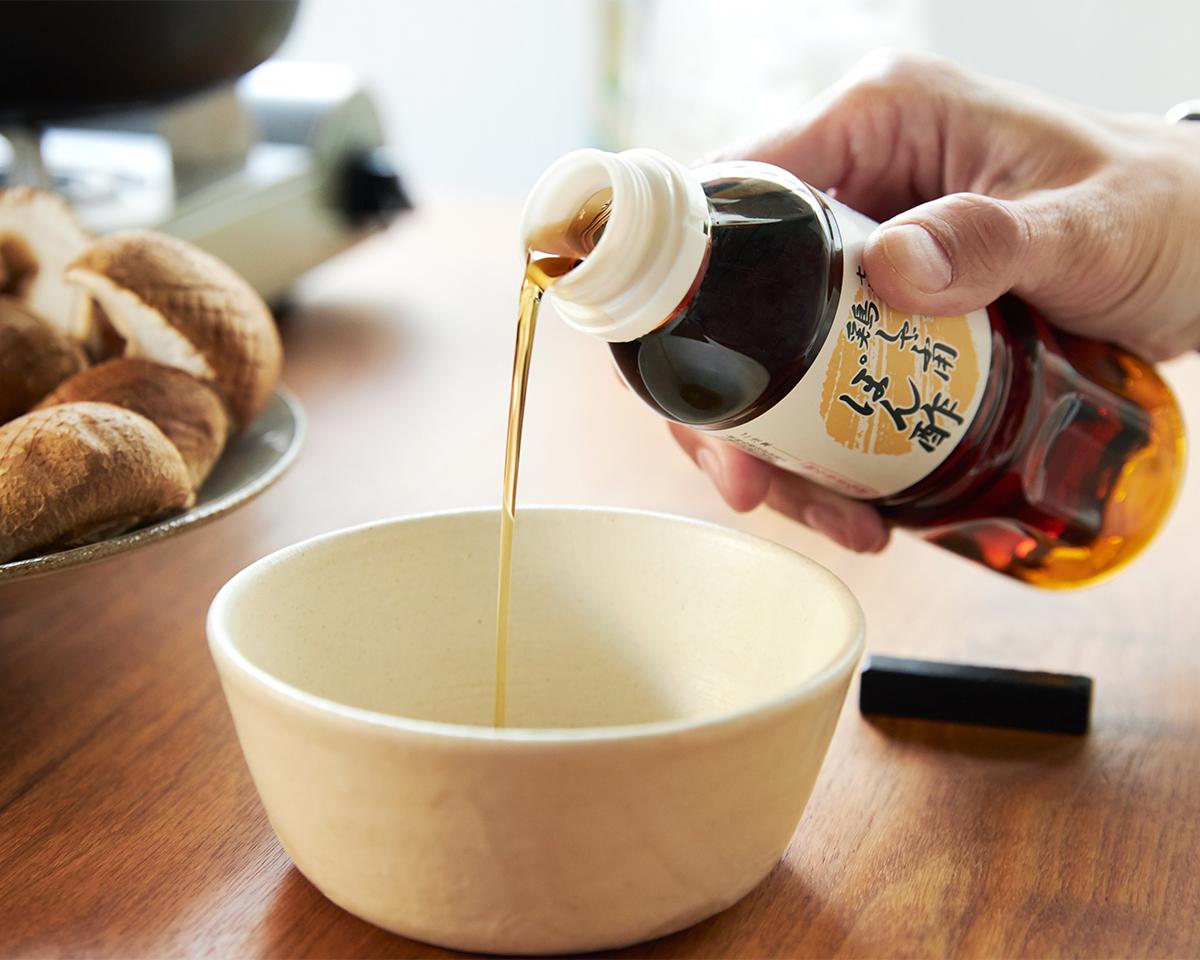 だしが残ったら、うどんのスープやだし巻き玉子、茶碗蒸しにもぜひ使ってください。濁りのない、透き通った「鶏しゃぶポン酢」のおいしさも特筆ポイント。飲めるポン酢&特製だし付き「名古屋コーチンしゃぶしゃぶセット(もも肉・むね肉)」|錦爽(きんそう)|丸トポートリー食品