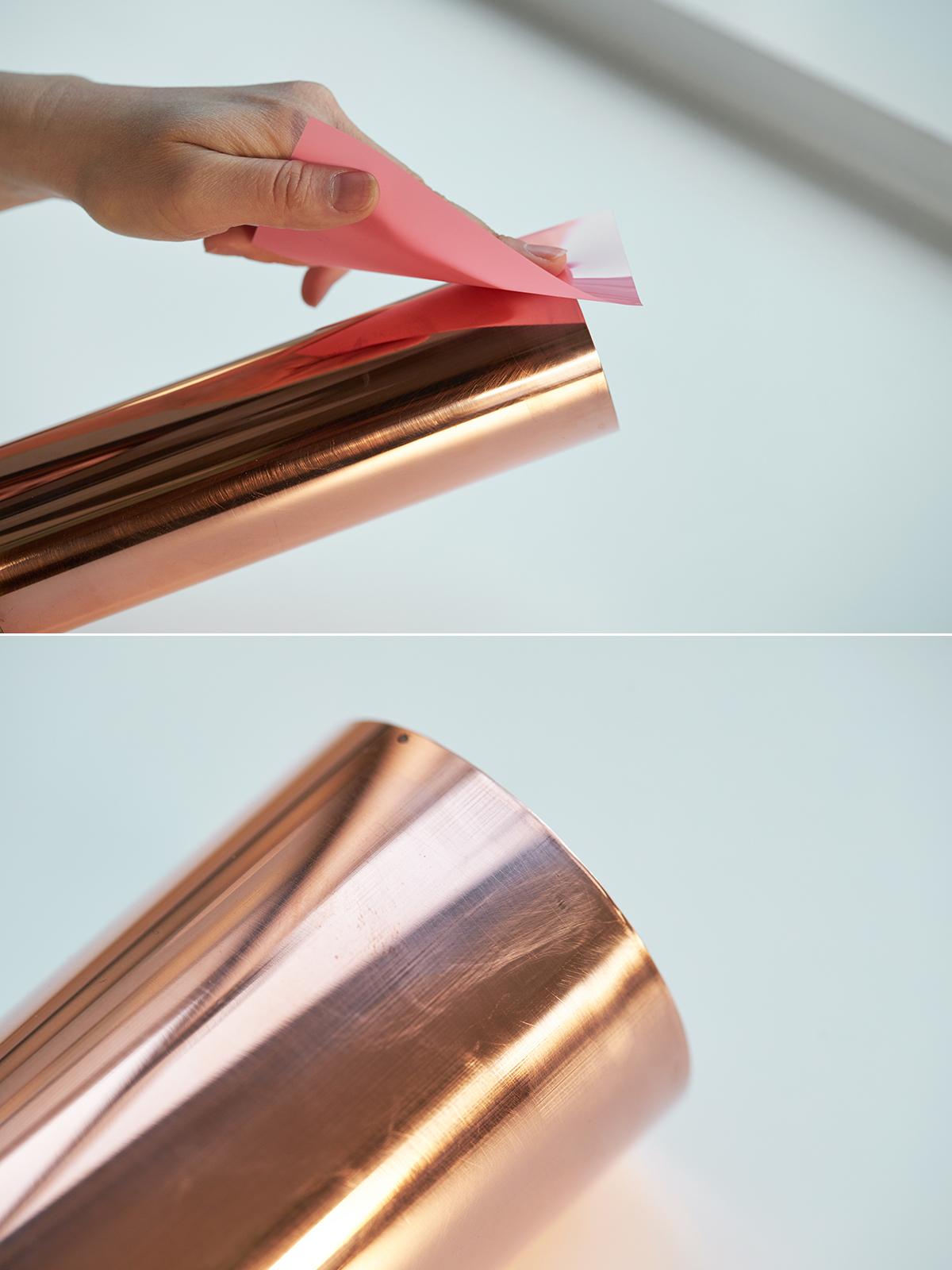 おすすめの定期的なメンテナンス。「紙ヤスリ」で削った場合|無造作に挿すだけで「絵」になる、銅管の一輪挿し・花瓶・フラワーベース|BULBOUS