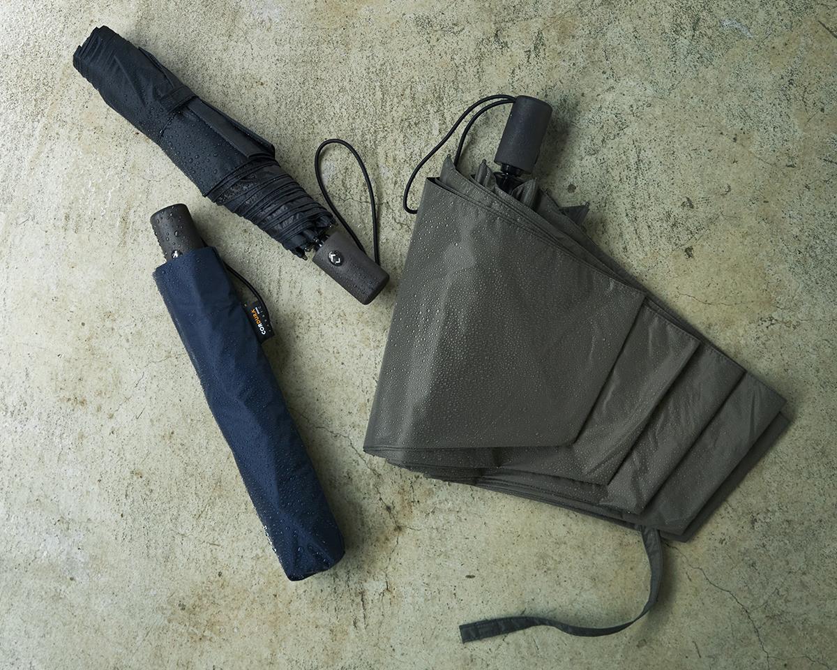 使い捨てにならない「良質な傘づくり」に真摯に向き合い、新たな技術を探究する日本の傘メーカー『Amvel(アンベル)』。日傘・雨傘|《晴雨兼用》指1本でカンタン開閉!丈夫なコーデュラ生地で仕立てた「自動開閉式折りたたみ遮光傘」|HEAT BLOCK ×CORDURA Fabric|VERYKAL LARGE