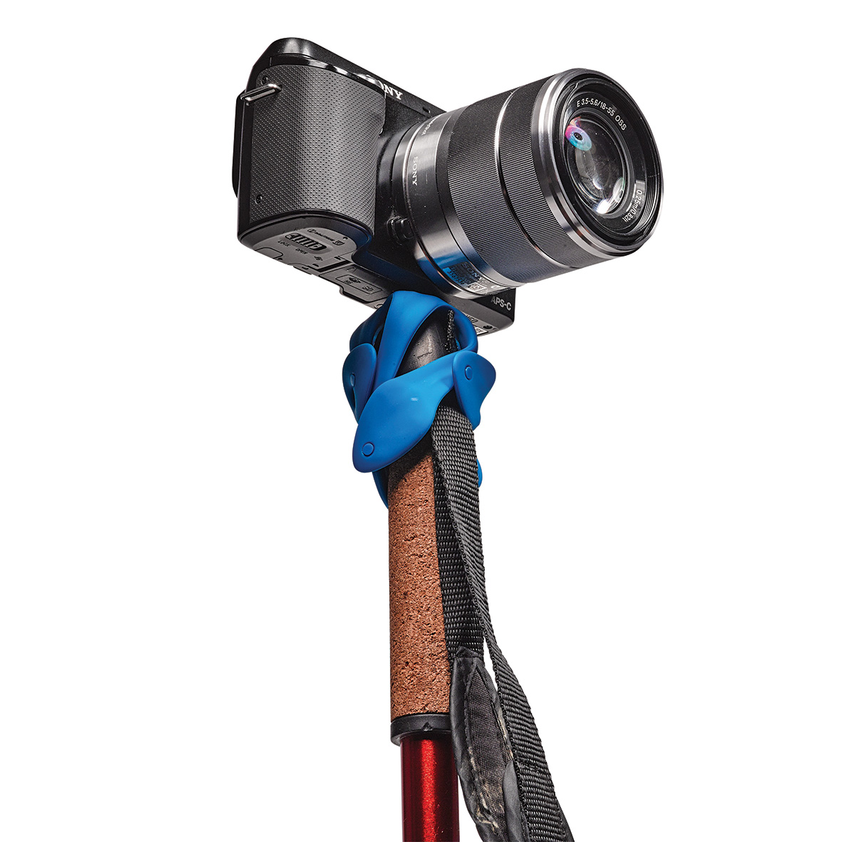 木の枝や手すりに巻きつく、柔軟な5本足でスマホやカメラをどこにでも固定!薄くて、軽くて、コンパクトなスマホ&カメラ用スタンド| miggo