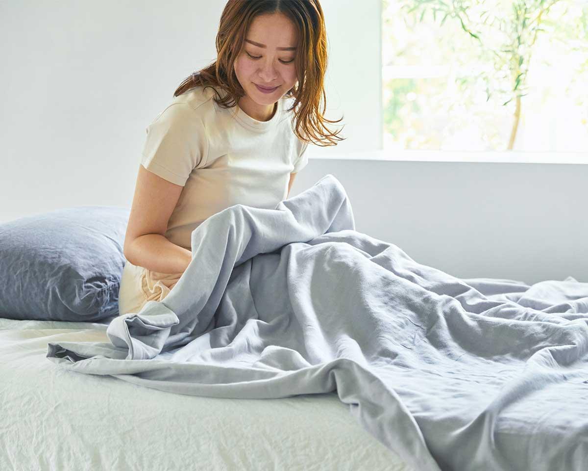 吸水性・通気性抜群で気持ちいい寝心地が続く。届いたその日から、肌にふんわりなじむ、柔らかい「ガーゼケット」|和晒し(わざらし)ガーゼカバーケット(肌掛け・布団)