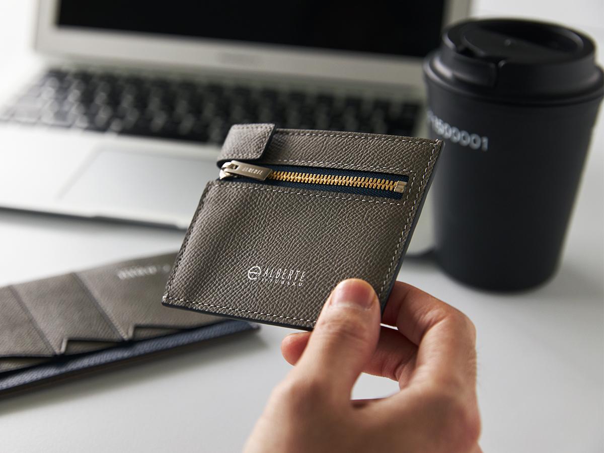 無駄がないシンプルでスマートなデザイン。無理なくミニマムを極めた、「薄い財布」の傑作(長財布、二つ折り財布、パスケース、カードホルダー) ALBERTE