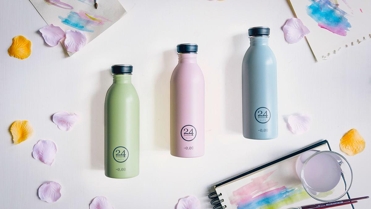 超軽量でスタイリッシュでお洒落なステンレスボトル   URBAN BOTTLE(限定カラー:パステルグリーン、パステルピンク、パステルブルー)