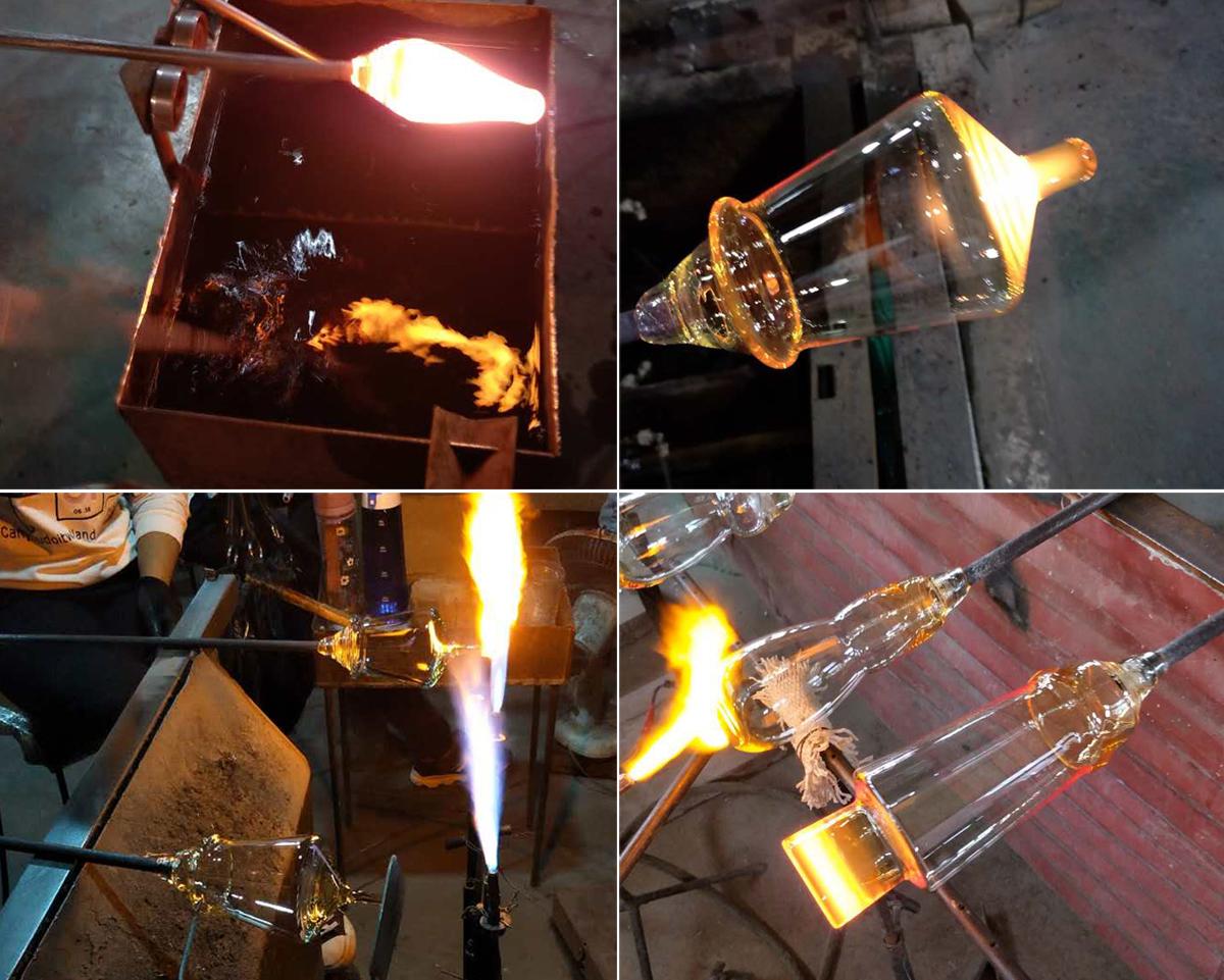 ガラス工場で職人たちが、一つ一つ手作りした、スタッカブルパイントグラス ペア(2個組)| magisso × muurla