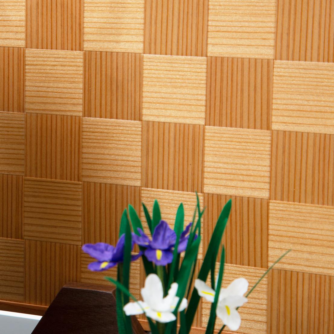 4. 屏風:鹿沼寄木細工6つの日本伝統工芸をコンパクトにした、木目込の「プレミアム兜飾り」| 宝輝 | 柿沼人形