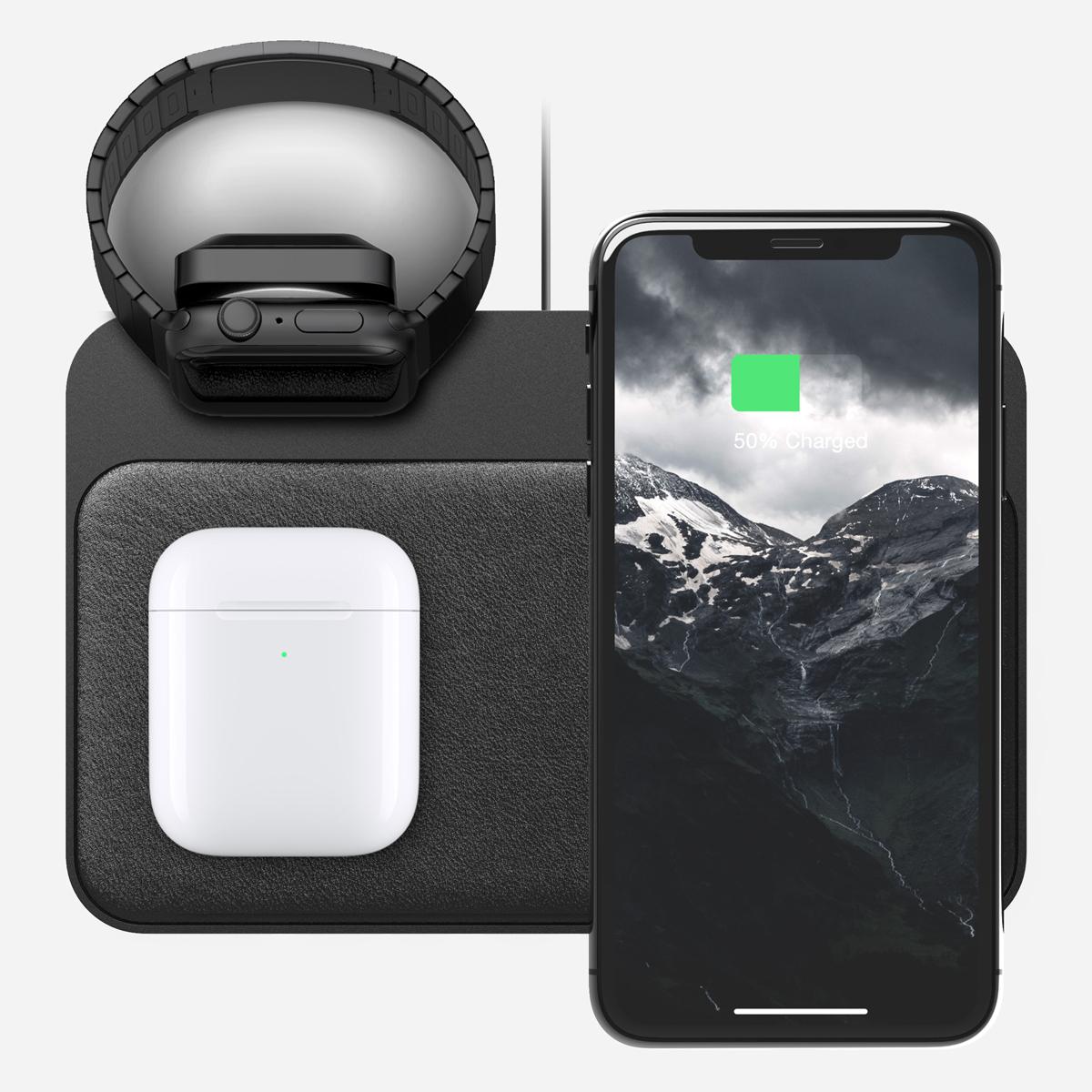 軽量&薄型のボディなのに落ち着きのある存在感の「ワイヤレス充電ベース」Base Station(Apple Watch Edition)| NOMAD