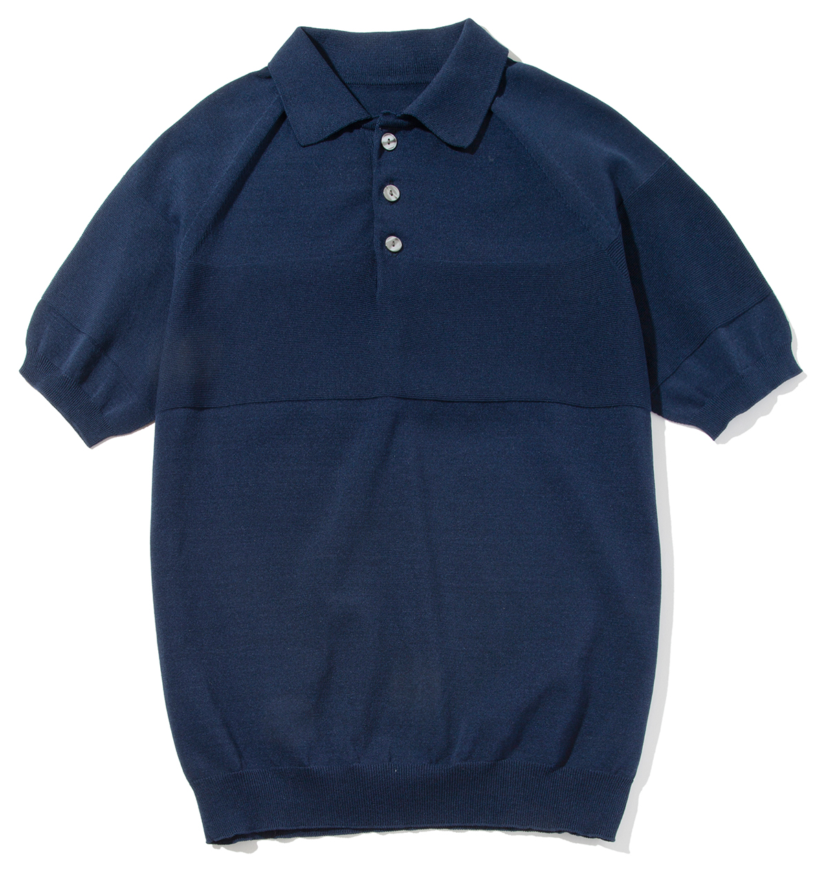 ネイビー|汗でベタつかない、匂わない、綿より軽い!三拍子揃った「ニットポロシャツ」|伊予和紙ポロシャツ