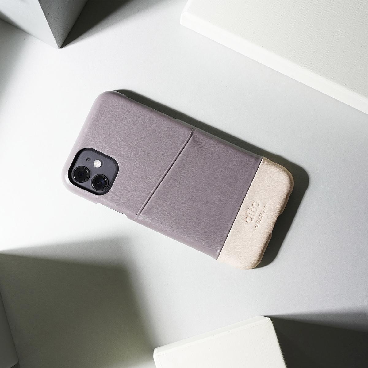 フルグレインレザーを植物タンニンなめしを施しアニリンで仕上げた贅沢なiPhoneケース|Alto