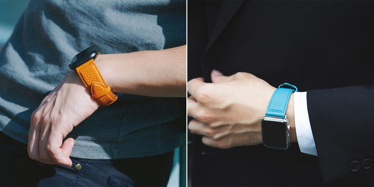 弾力性、発色の美しさを兼ね備えたシュランケンカーフの「Apple Watchバンド」|EPONAS(エポナス)