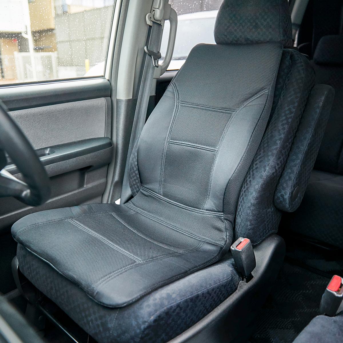 ドライブはもっと快適に!置くだけで、運転中ずっと、腰・背中・お尻がラクな車用シートクッション|P!nto Driver