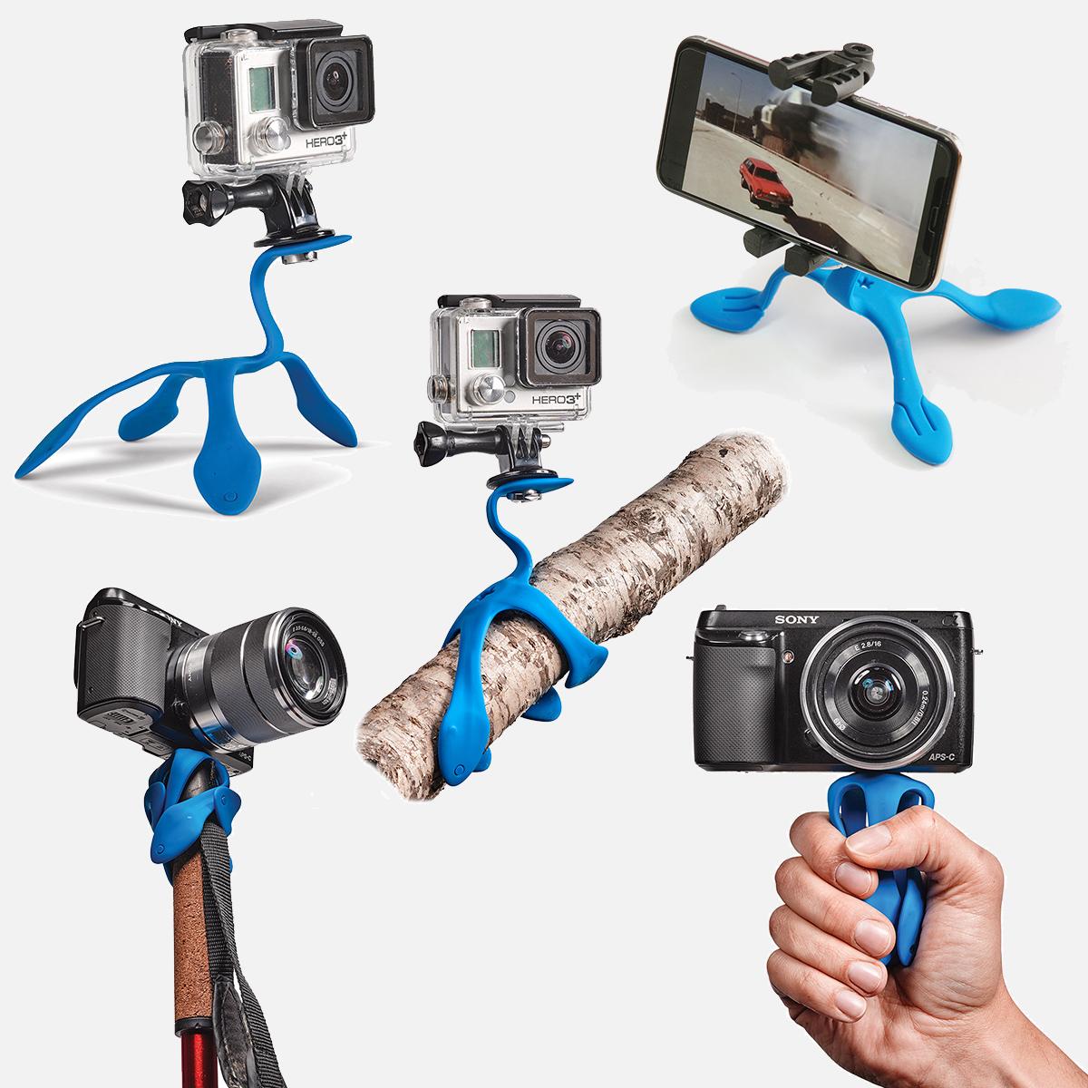 変幻自在にぐにゃぐにゃと動く5本の足でどんな場所でも固定することができる|「miggo」のスマホ&カメラ用スタンド|スマホアクセサリーで快適なモバイルライフを。スマホがもっと便利になるおすすめグッズをご紹介