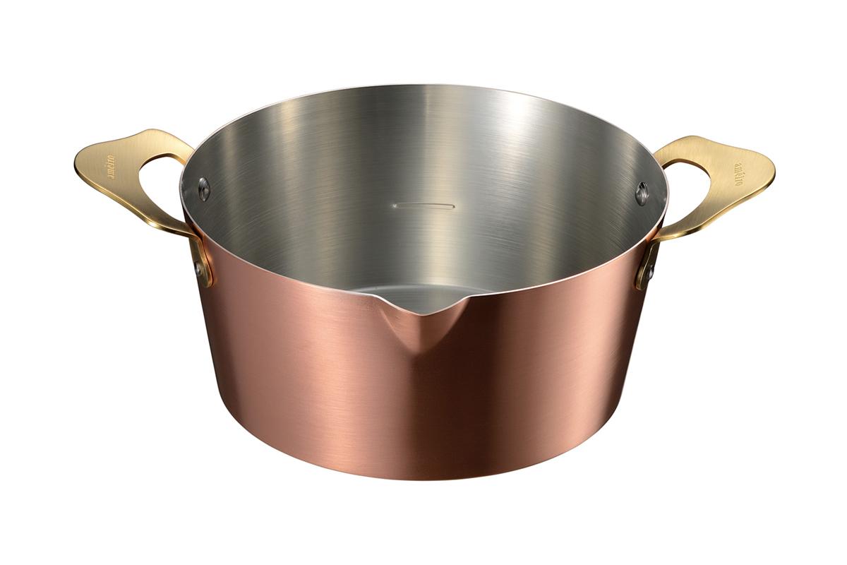 真鍮のゴールドと銅の飴色が美しい、料理が美味しくなる銅のフライパン・卵焼き器・鍋|ameiro