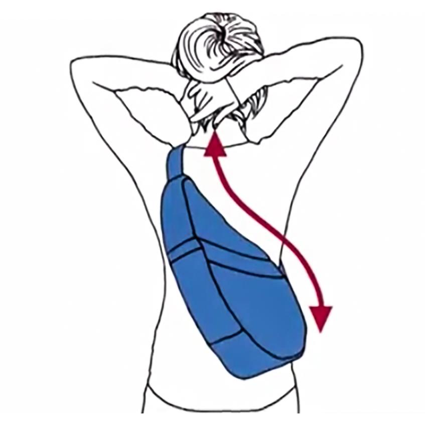 人間工学による体の丸みにフィットする「しずく型」のデザインのボディバッグ|Healthy Back Bag