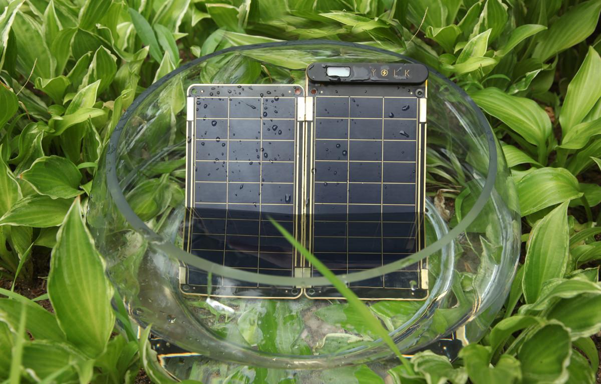 防水対応のソーラー充電器