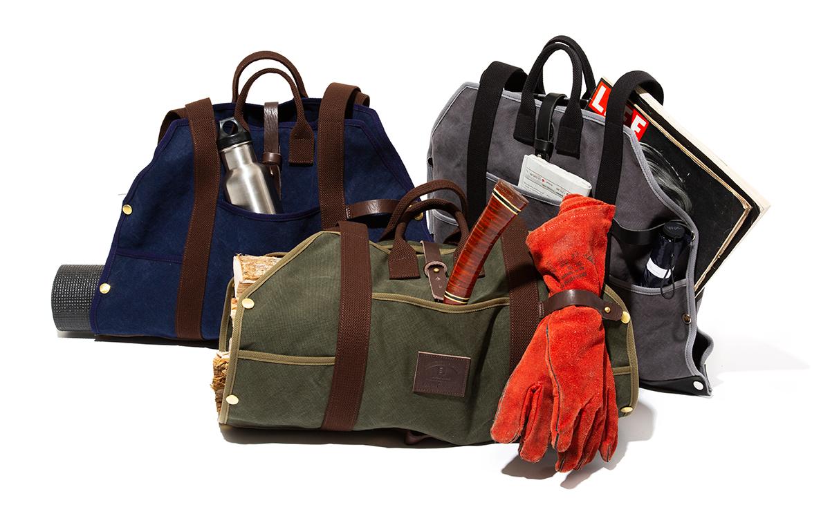どんな物でも持ち運びしやすい。重い薪運びの原理からヒントを得た、新発想のビッグトート