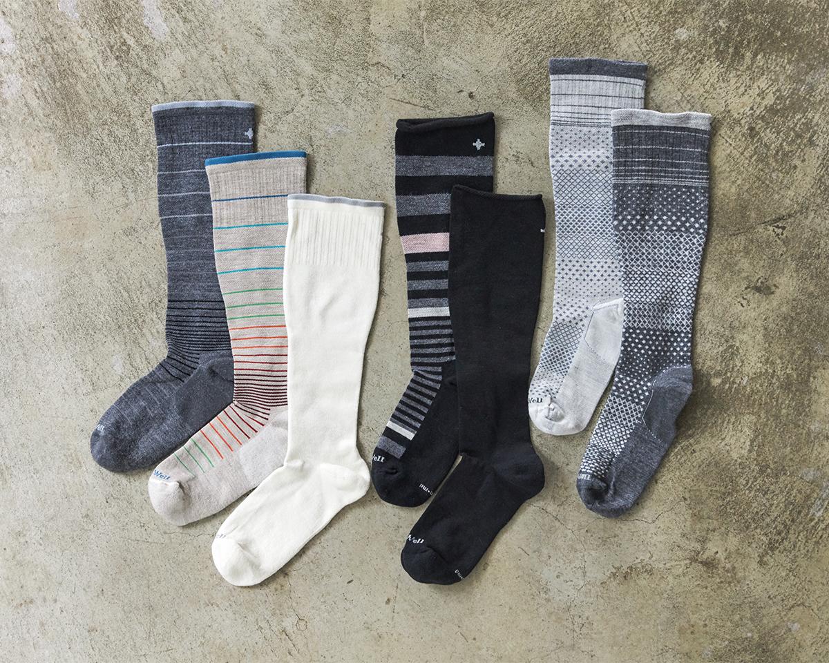 おしゃれできるフットケアで健康をサポート。夏は涼しく冬は暖かいメリノウールを使用した、血液やリンパの流れをサポートする着圧ソックス(健康ソックス・靴下)|Sockwell(ソックウェル)