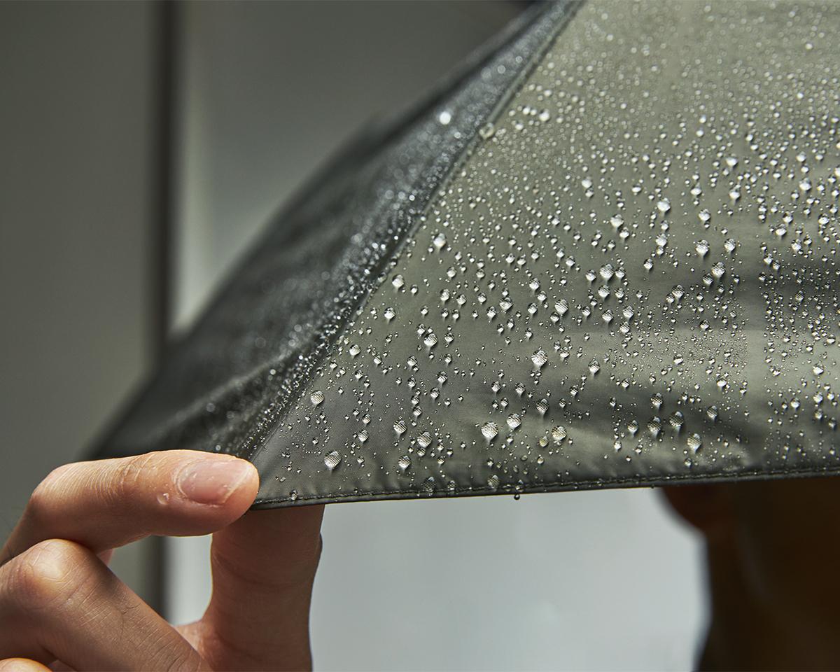 米国のインビスタ社が開発した、高密度で摩耗に強い「CORDURA」を使用した日傘・雨傘|《晴雨兼用》指1本でカンタン開閉!丈夫なコーデュラ生地で仕立てた「自動開閉式折りたたみ遮光傘」|HEAT BLOCK ×CORDURA Fabric|VERYKAL LARGE