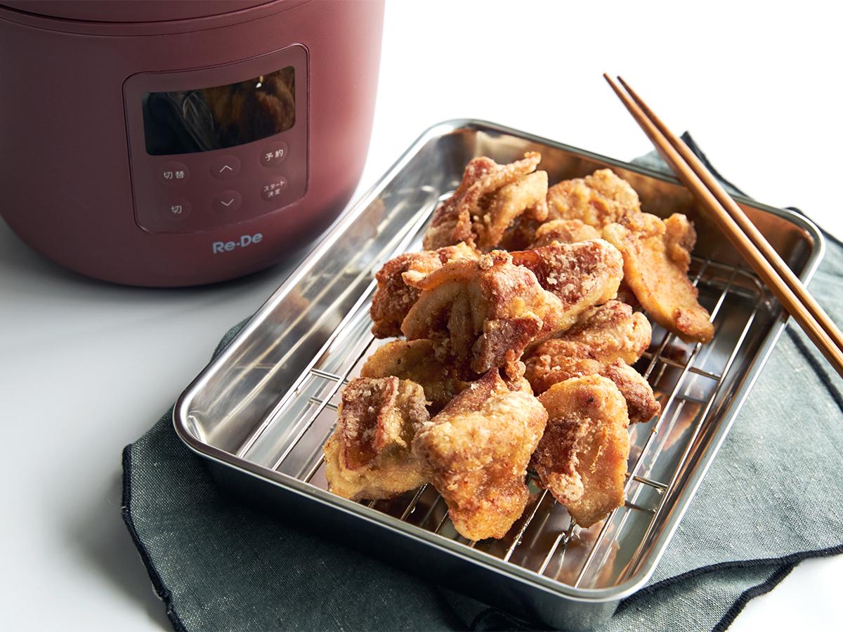 一定温度で加熱調理ができる「スロー調理」もおすすめ。肉はジューシーに、ジャガイモはホクホクに下ごしらえ!炊飯も調理も楽チンで早い「アシスト調理器・電気圧力鍋」|Re-De Pot(リデ ポット)