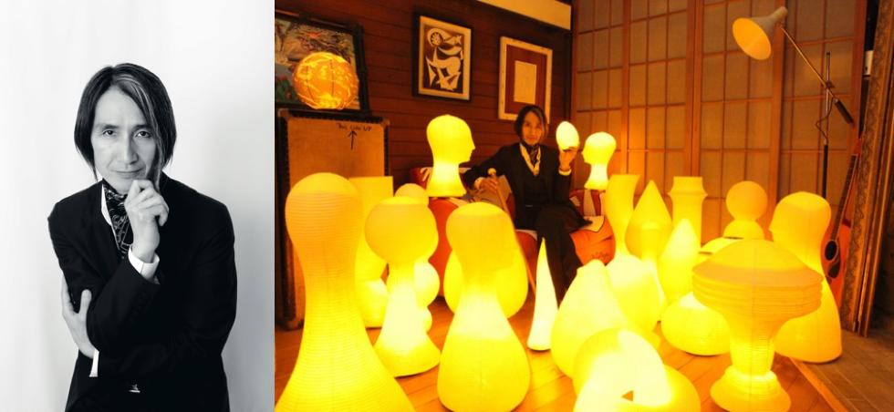 提灯型ランプ(インテリア ライト 照明)| 古代蕾 - 鈴木茂兵衛商店 SUZUMO CHOCHIN(すずも提灯)のアーティスト MIC*ITAYA(ミック・イタヤ)氏