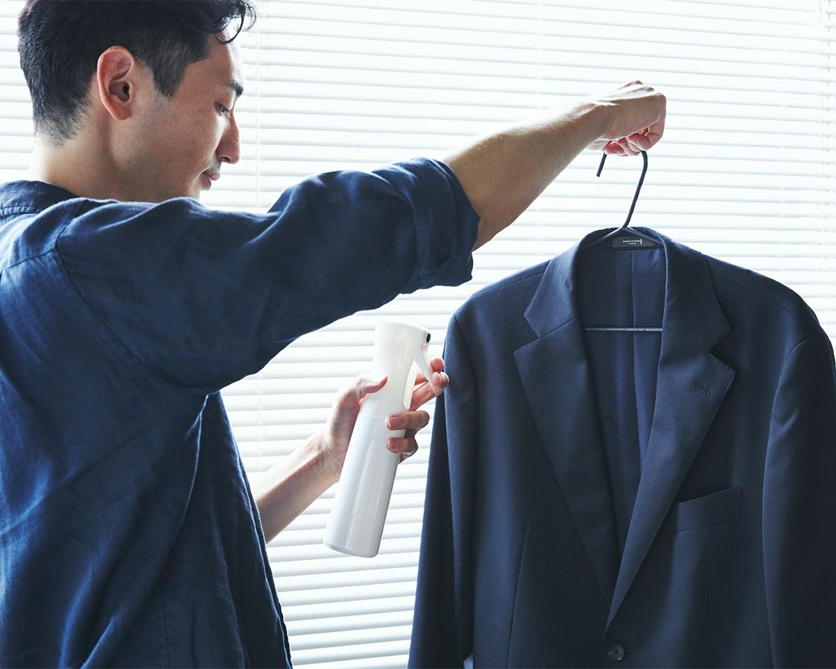 汗臭やタバコ臭が気になるジャケットにおすすめ。プロ級の抗菌コート!強い酸化力で、菌・カビ・匂いを分解する「マイクロミストスプレー」|CELSION(セルシオン)