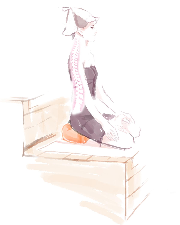 坐禅スタイルは「呼吸をととのえやすい姿勢」でもある。骨盤をサポートして姿勢を安定、腰も呼吸もラクに!坐禅蒲団から生まれた、SAUNAクッション|ZAF SAUNA(ザフサウナ)
