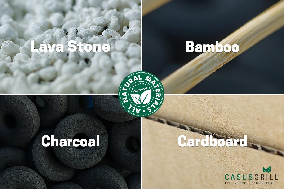 すべて燃えるゴミに捨てられる、100%天然素材の使い捨てバーベキューグリル|Craft Grill