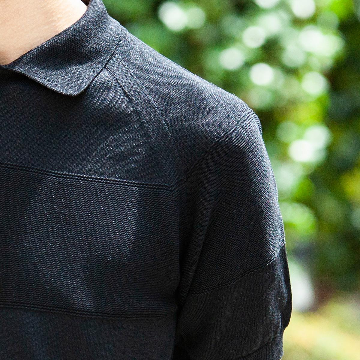 着心地をとことん追求した夏の新定番にしたいポロシャツ。汗でベタつかない、匂わない、綿より軽い!三拍子揃った「ニットポロシャツ」|伊予和紙ポロシャツ