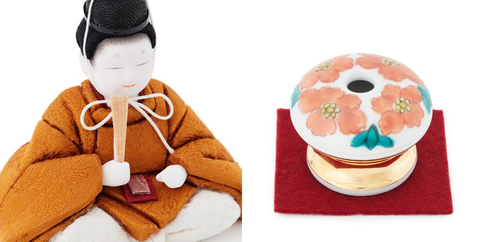 天皇以外着ることが許されない着物の色、雅子様のお印であるハマナスの花を九谷焼・香壺に表現
