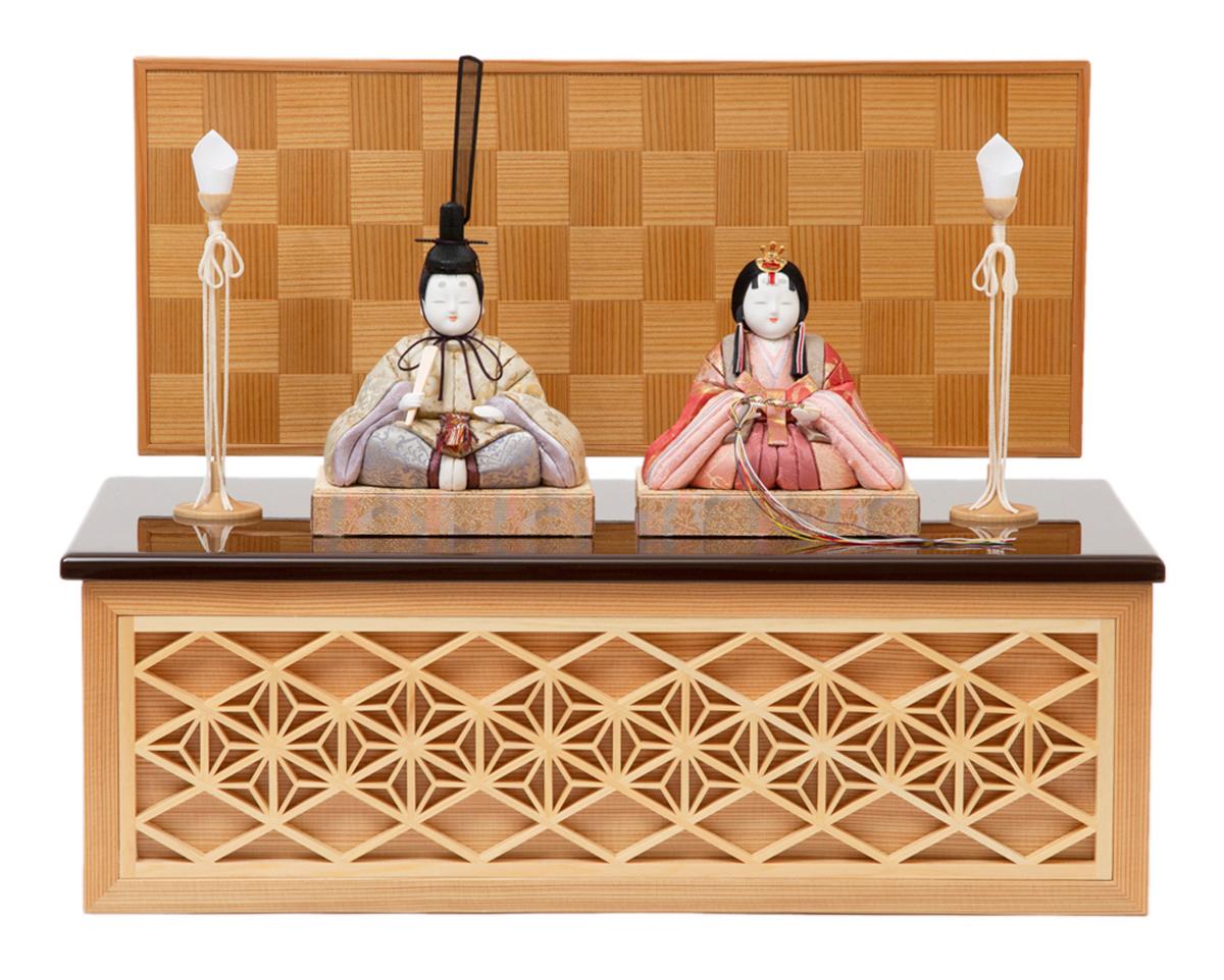 リビング・玄関に飾れるコンパクトさ。モダンな美しい日本の伝統工芸が結集した木目込みプレミアム雛人形|柿沼東光の宝想雛