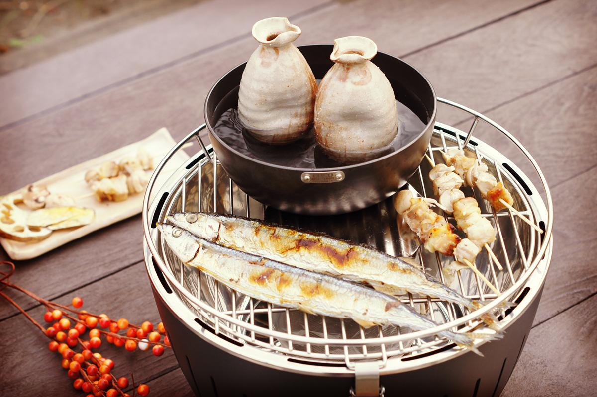 マンションや住宅地でも炭火バーベキューができる煙が少ないロースター(セット)|Lotus Grill