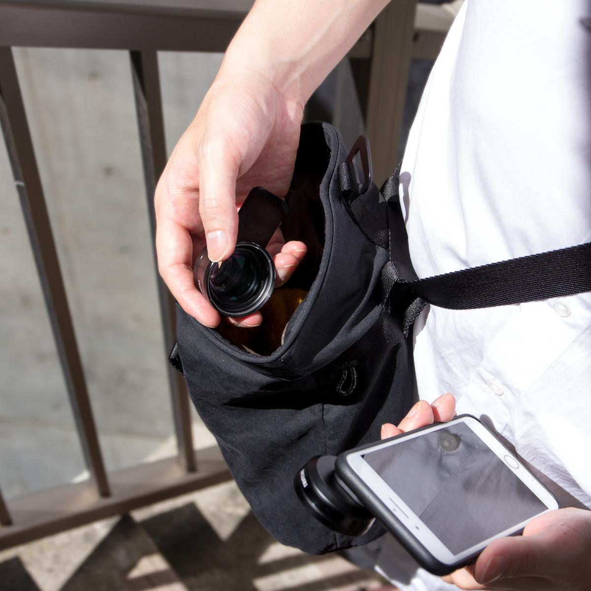 アウトドアレジャー、屋外イベント、バックパック使用時のサブバッグに。旅行など動き回りたい時にも。DIYなどの作業バッグや小物入れとしても重宝「4WAYウエストバッグ」(水濡れや汚れに強いドライコレクション)|Topologie