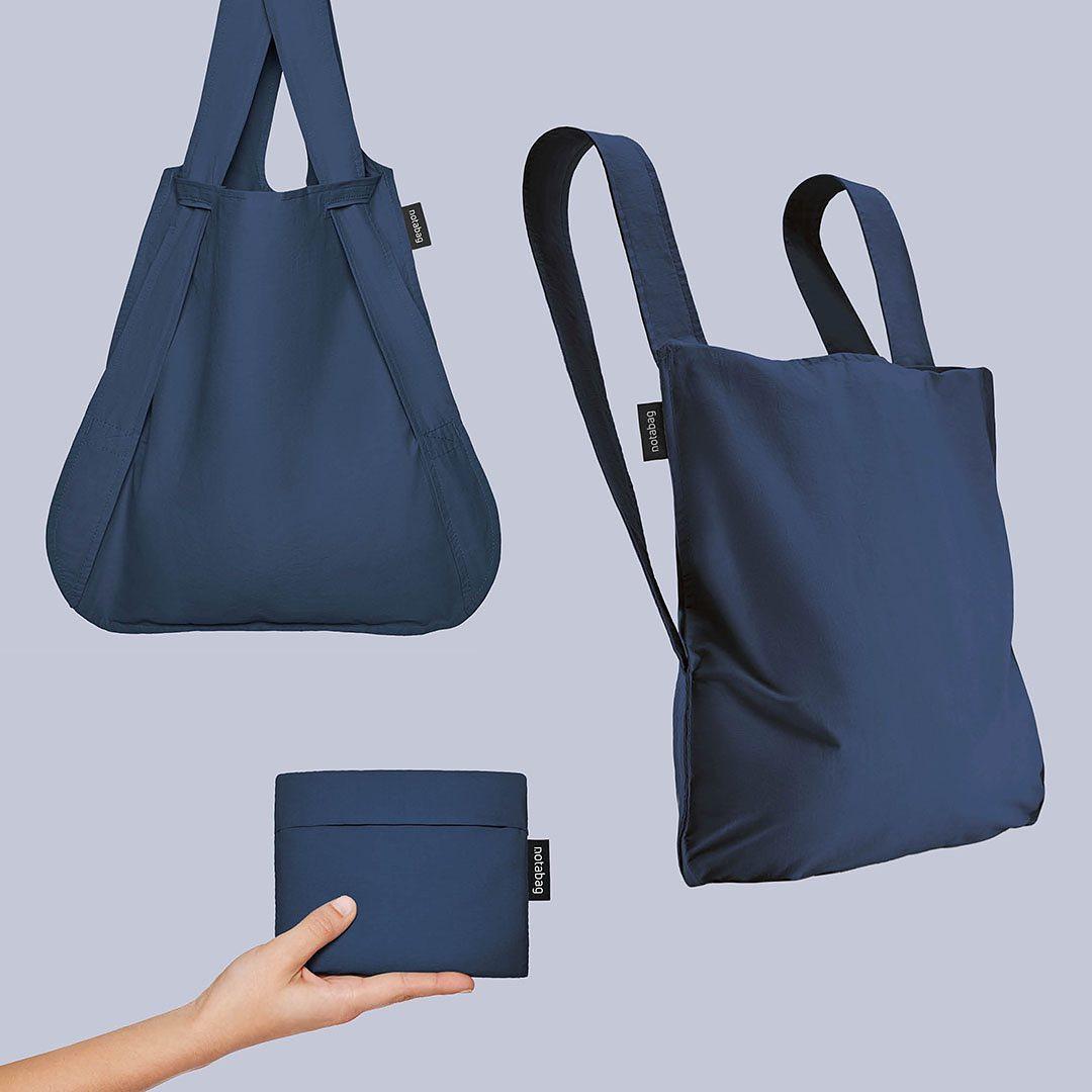 トートとリュックの切り替えができるデザイン。一瞬でリュックになる「変身エコバッグ」|notabag(ノット ア バッグ)