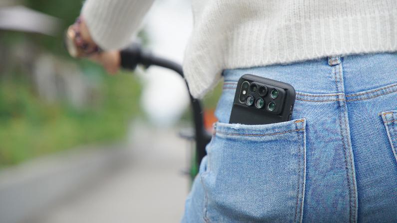 簡単に特殊効果レンズの装着ができる、iPhoneカメラで実現!6種類のレンズ・バッグ付きのコンプリートセット | ShiftCam 2.0