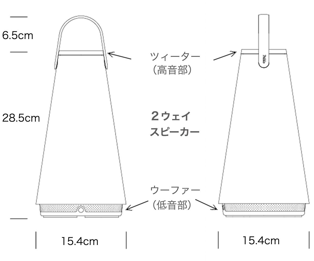 高音と低音、重低音のバランスが考えられたワイヤレススピーカー