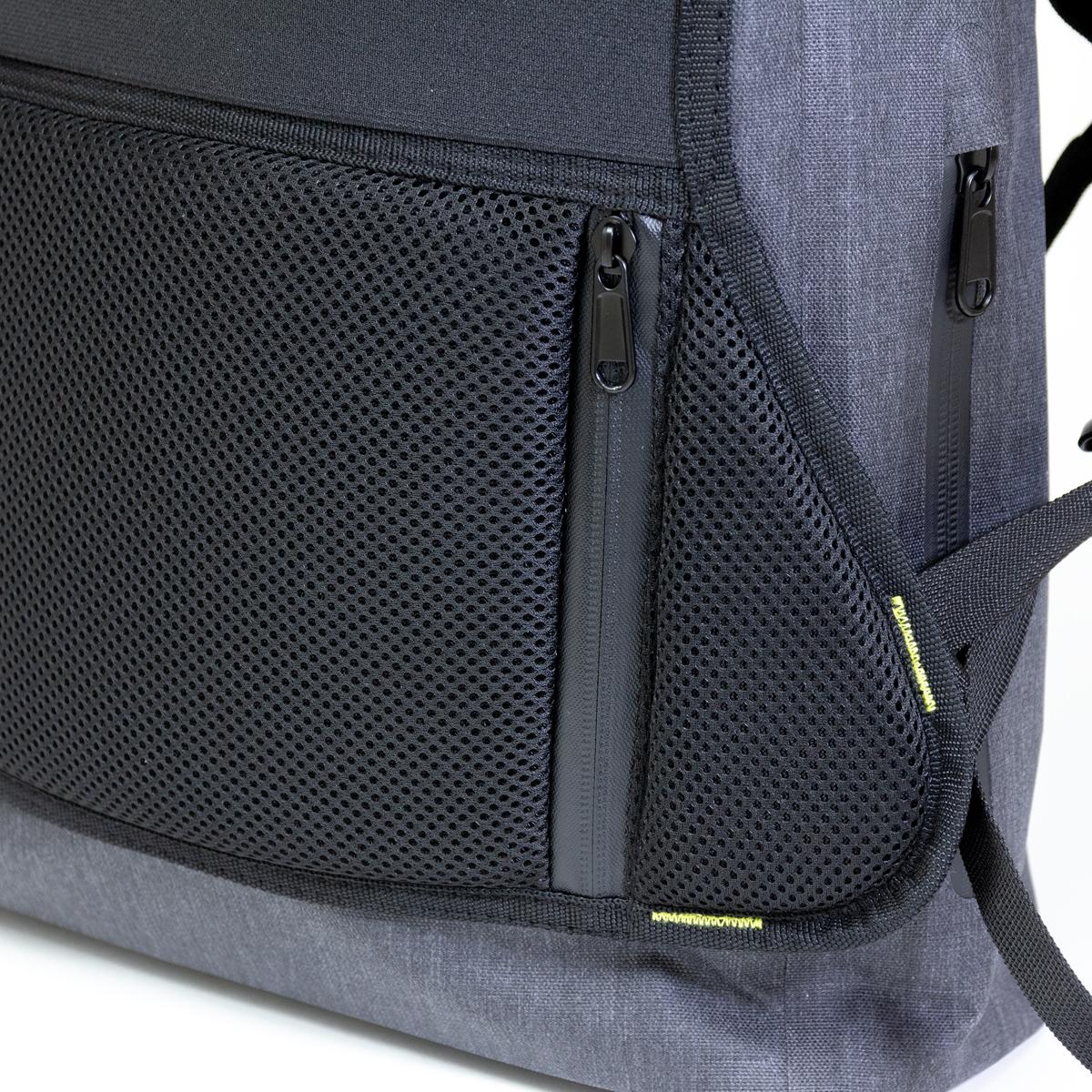 隠し収納ポケット付きの完全防水・テックスリーブ・盗難抑止機能・隠しポケットを搭載。10の機能を持ち合わせたバックパック | Code 10