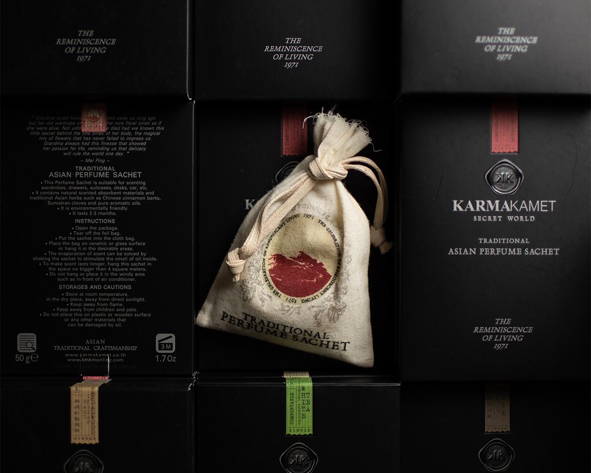 スプレーノズルのストッパーも美しい。過去と未来のバランスを保つ、美しいデザインのサシェ・匂い袋・香り袋|タイ王室御用達のアロマブランド『KARMAKAMET(カルマカメット)』