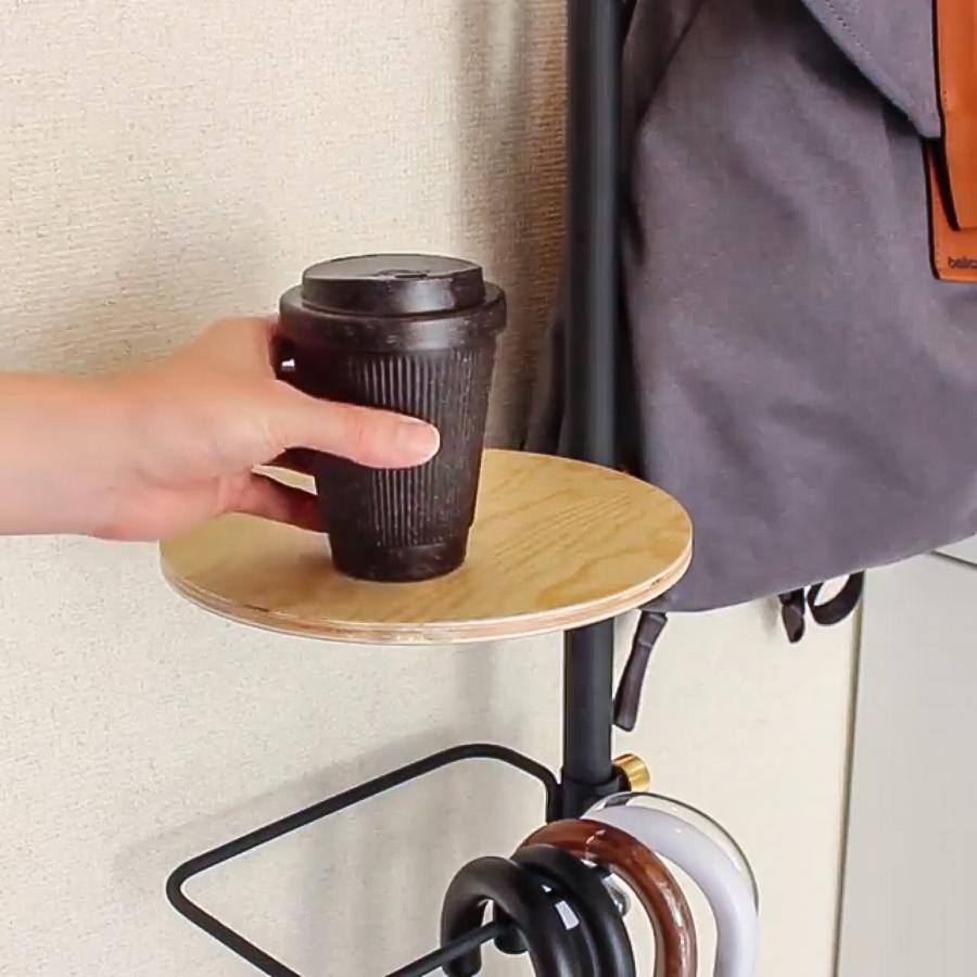丸テーブル|1本の線(ライン)に、鍵もバッグも指定席ができる「つっぱり棒」|DRAW A LINE