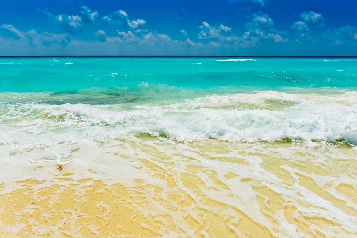 CANCUN(太陽が眩しいカリブ海)がテーマのビーチサンダル|九十九サンダル