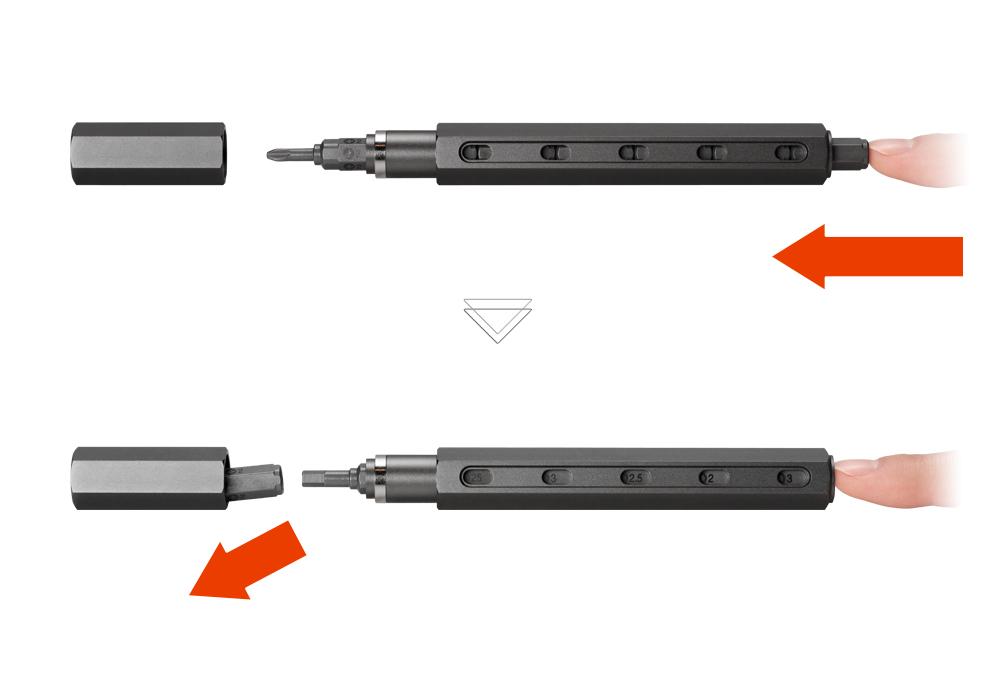 ロケット鉛筆のようなペン型の工具|mininch