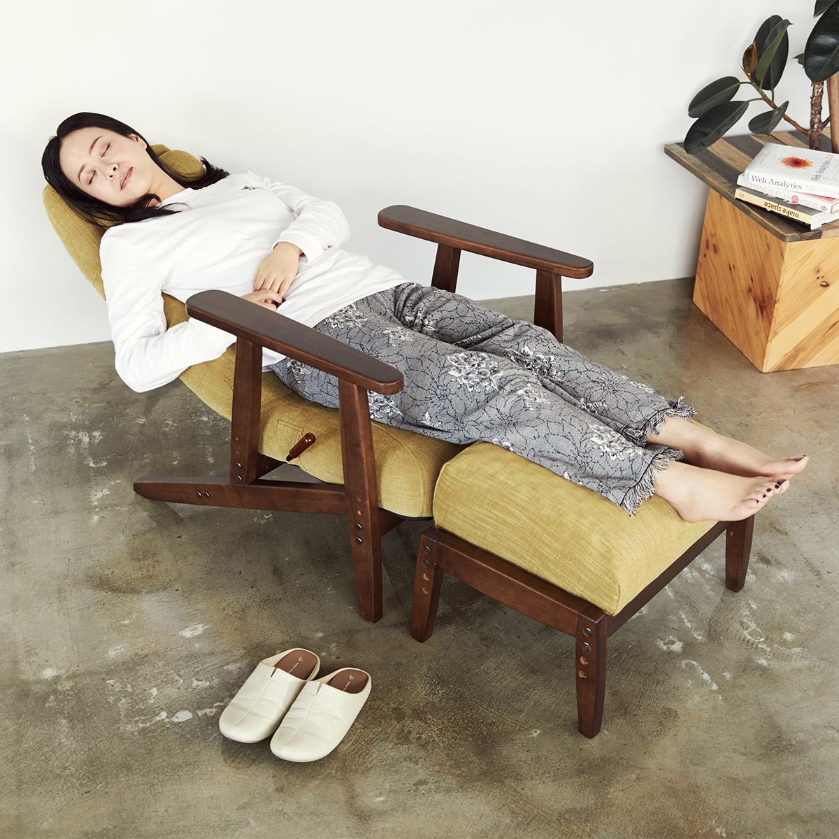 作業療法士、野村寿子さんの採型技術と、5000人の体型分析データからつくった立体形状が、私たちの体にフィット。寝椅子(リクライニングチェア)|P!nto