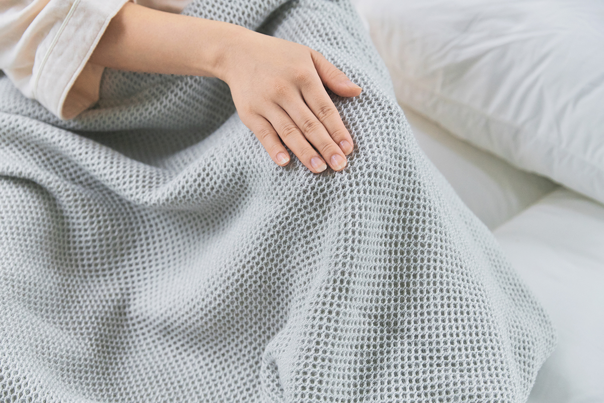 究極のタオルケット。「熟睡」を追求した凹凸状のハニカム織りのハニカムケット(ワッフルケット)