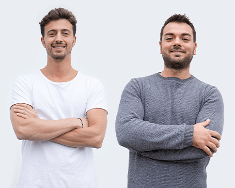 『24Bottles』創業者のジョヴァンニ(左)とマッテオ(右)。毎日持ち歩きたくなる、色柄豊富なイタリアンデザインのマイボトル|24Bottles(トゥエンティーフォーボトルズ)