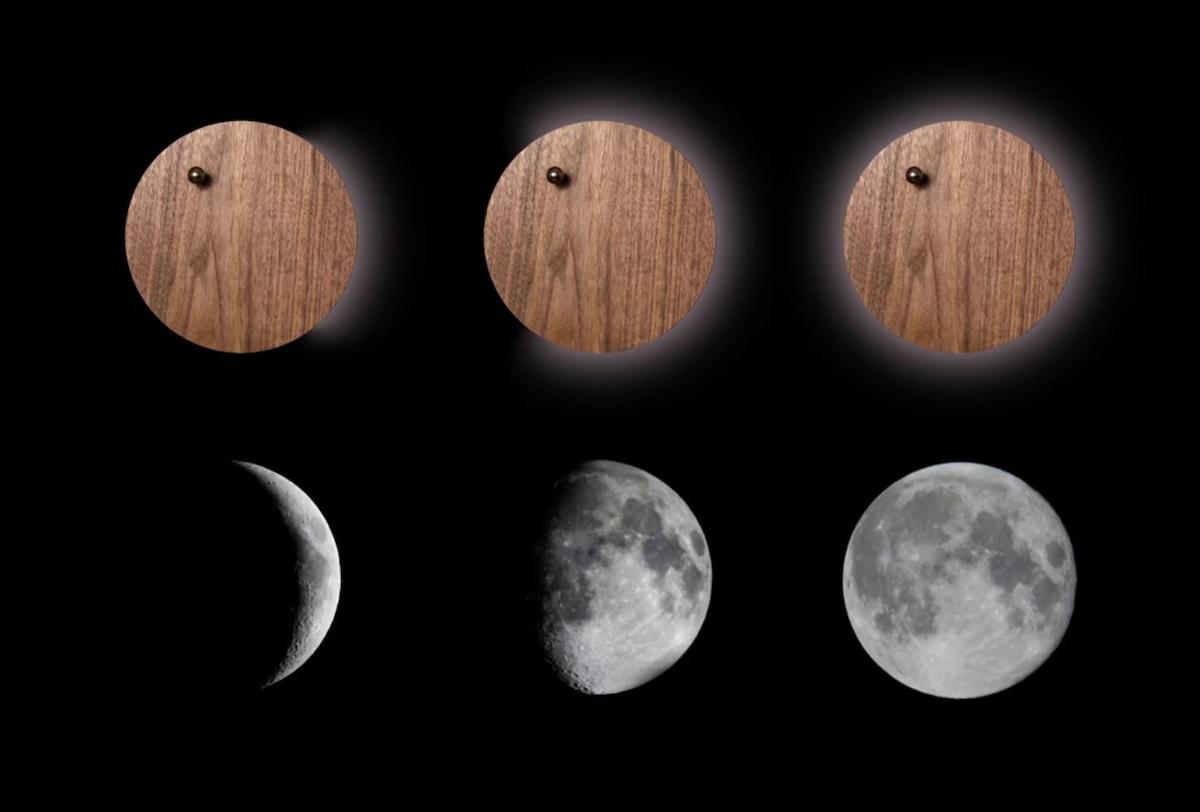 まるで月が満ち欠けるように弧を描きながら光るので、部屋の明かりを落とすととても幻想的!磁力で浮遊する「時の球体」。あなたの物語を軌道に旅をする時計|Flyte STORY