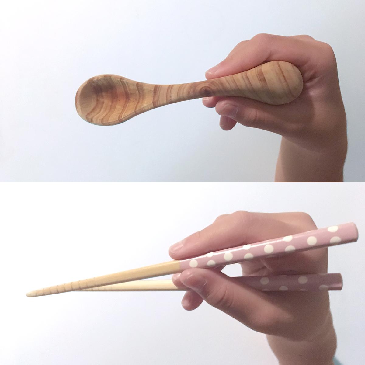 子どものお箸の練習になるスプーン|エレファントスプーン