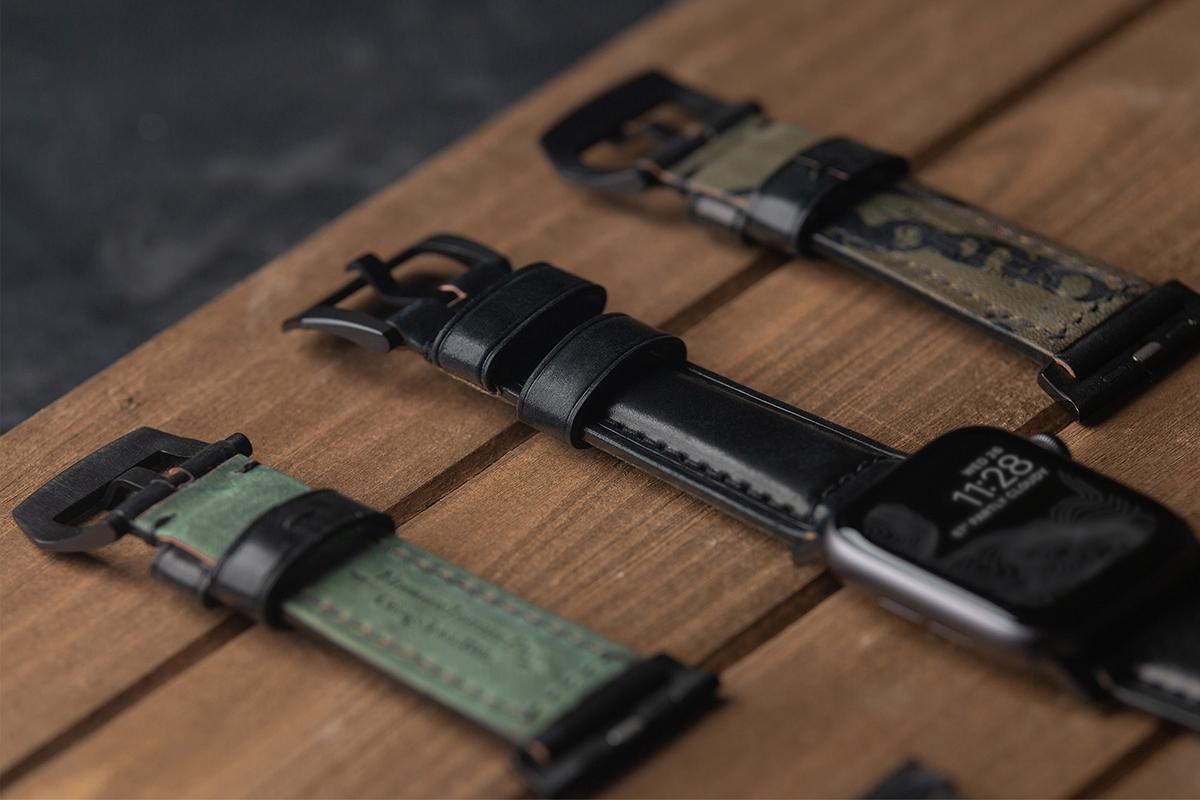 高級紳士靴ブランドやトップメゾンと同様の希少革「シェルコードバン」のApple Watchバンド| NOMAD