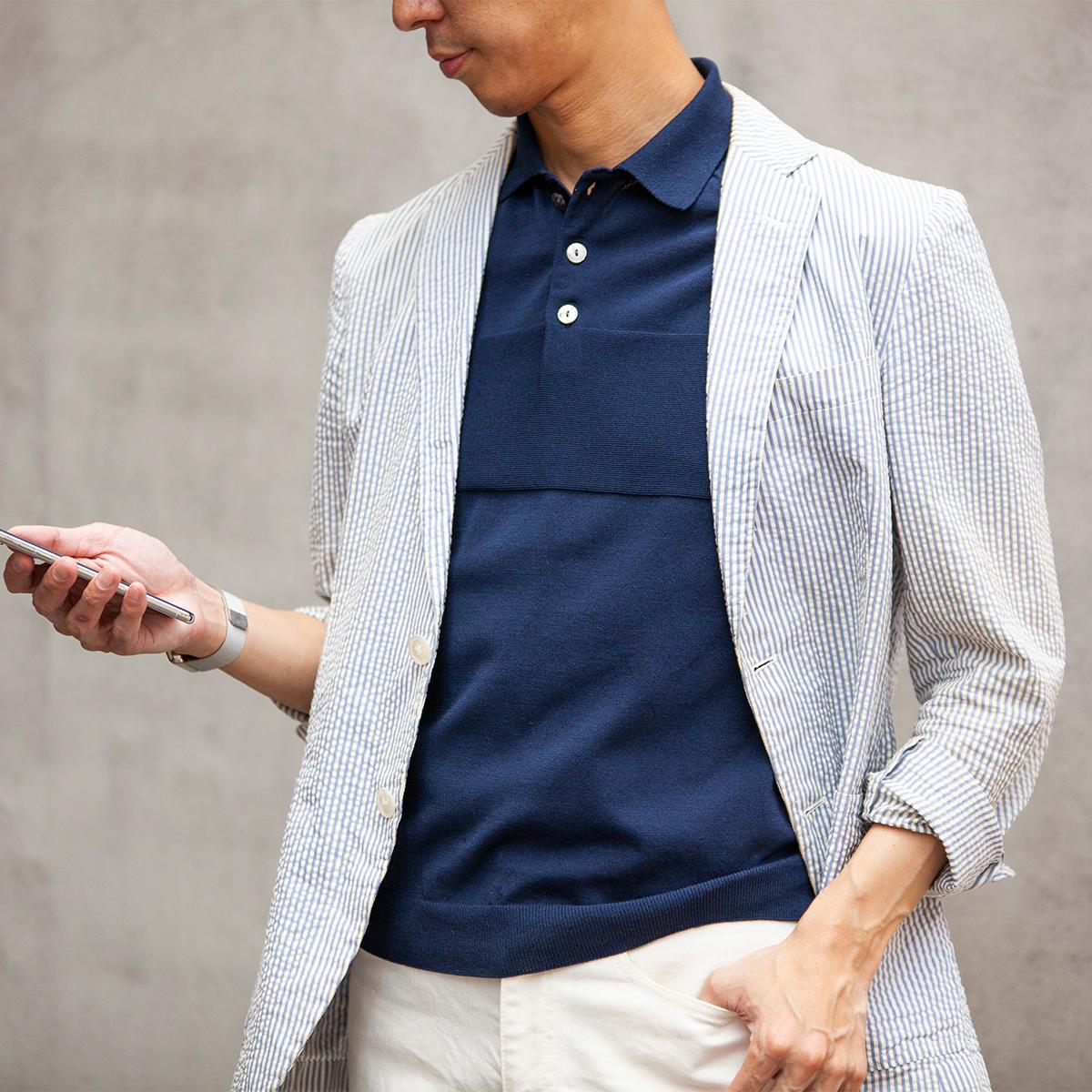 紫外線カット機能もある。原料の和紙の製造から、ポロシャツの編みまで、オール・メイド・イン・ジャパンの希少品「ニットポロシャツ」|伊予和紙ポロシャツ