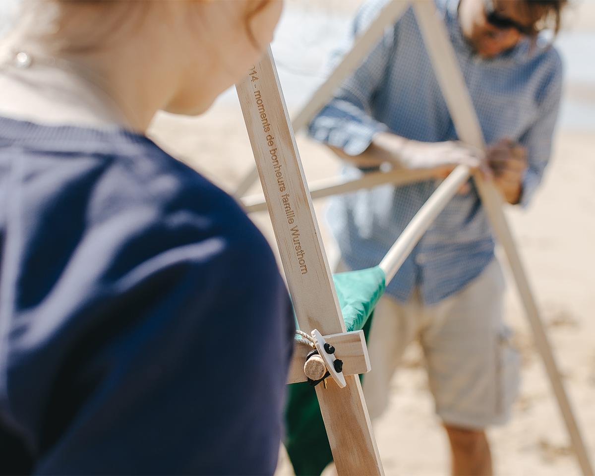 ③ 組み立て方は、子どももテントづくりに参加できるくらい簡単。専用道具が要らない、パーツも軽量の「帆布テント」|LA TENTE ISLAISE(ラ・タント・イレーズ)