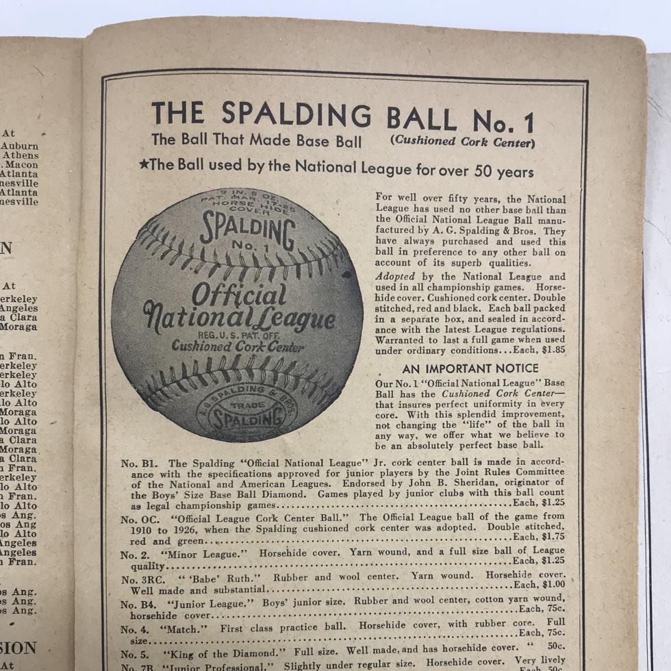 A.G. Spalding & Bros(AG スポルディング & ブロス)のMLB公式野球ボール(1917)