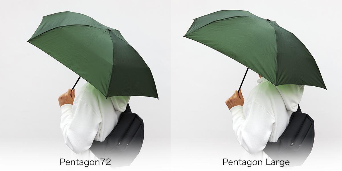 《モデル身長178cm》水はじきバツグン、極細なのに耐風構造の「世界最軽量級折りたたみ傘」|Pentagon72