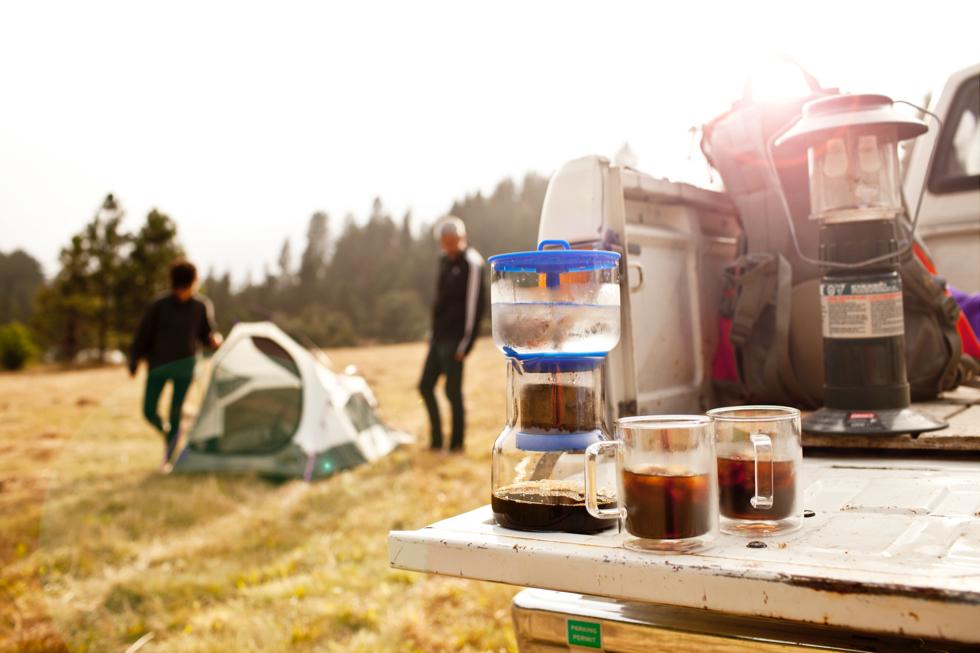 ピクニックや外出時、BBQやキャンプに格別の水出しコーヒーを楽しめる